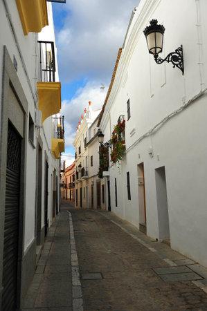 extremadura: Typical street of Zafra, Badajoz, Extremadura, Spain Editorial
