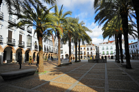 badajoz: Large square named Plaza Grande of Zafra, Badajoz, Extremadura, Spain