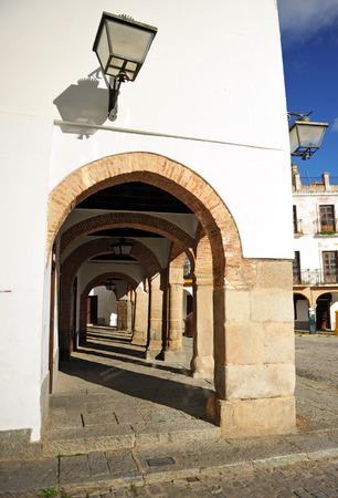badajoz: Arcade, Plaza Grande of Zafra, Badajoz, Extremadura, Spain