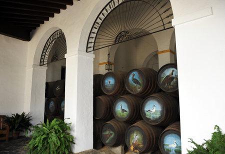 winepress: Wine cellar, Sanlucar de Barrameda, Cadiz province, Spain Editorial