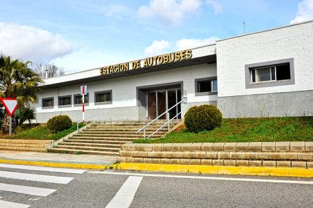 badajoz: Bus station, Zafra, province of Badajoz, Extremadura, Spain Editorial