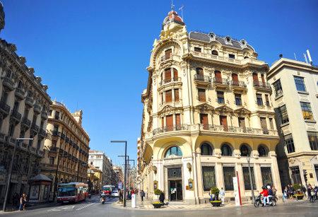 via: Buildings on the Gran Via of Granada, Andalusia, Spain Editorial