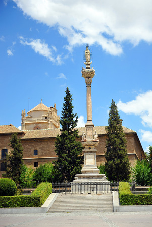 immaculate: Triomphe Square and the Royal Hospital, monument to the Immaculate, Granada, Andalusia, Spain
