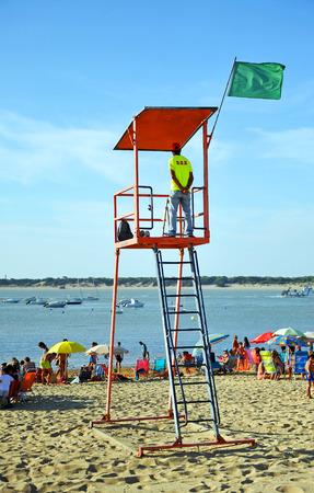 watchtower: Watchman at the beach, watchtower, Sanlucar de Barrameda, Spain