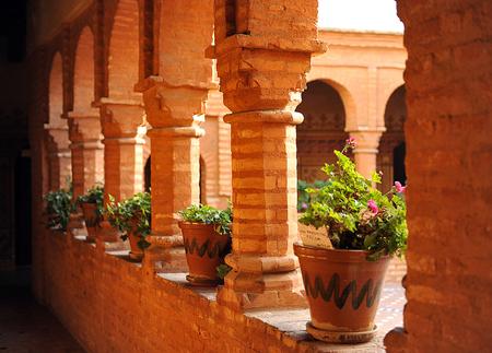 descubridor: Cloister of the Monastery of La Rabida, province of Huelva, Spain Foto de archivo