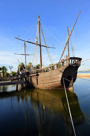 christopher columbus: caravel La Nina, Christopher Columbus, La Rabida, Huelva province, Spain