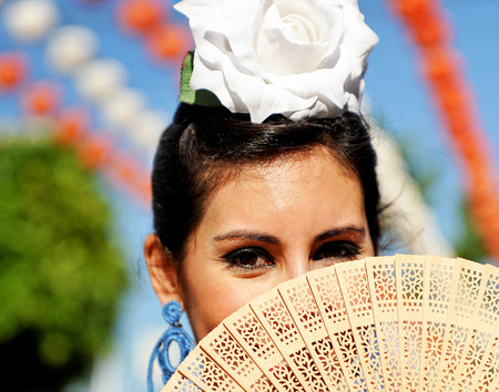 spanish woman: Spanish woman, Andalusian women at the Fair