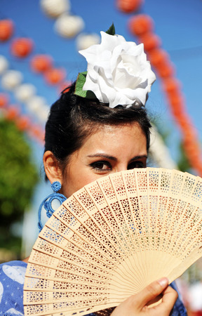 Andalusian women at the Fair, Seville, Spain