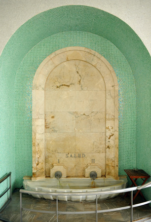 alpujarra: Fountain of Health, spa of Lanjaron, Alpujarras, Granada province, Spain