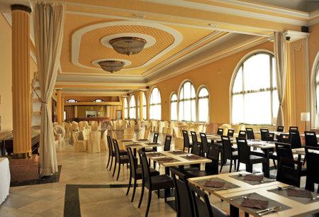 alpujarra: Large dining of the Lanjaron spa, Alpujarra of Granada, Spain