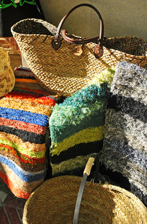 alpujarra: Baskets and blankets, Crafts typical of the region of the Alpujarra in the province of Granada, Spain