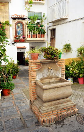 alpujarra: Picturesque corner in the village of Lanjaron, Alpujarras of Granada, Andalusia, Spain