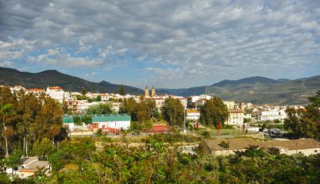 alpujarra: Panoramic view of Orgiva, town in the Alpujarra, province of Granada, Spain