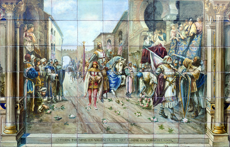 king james: Entry into Valencia of King  James the Conqueror, History of Spain
