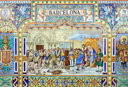 christopher: Christopher Columbus received by the Catholic Monarchs in Barcelona,