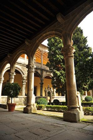plateresque: The renaissance cloister of the Monastery of Yuste, Cuacos de Yuste, Extremadura, Spain