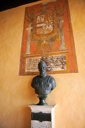 charles county: Portrait of Emperor Charles V in the Monastery of Yuste, Caceres Province, Extremadura, Spain Editorial