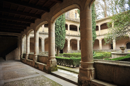 charles county: The gothic cloister of the Monastery of Yuste, Retirement of Emperor Charles V, Cuacos de Yuste, Extremadura, Spain