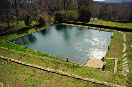 charles county: The pond of the Monastery of Yuste, Retirement of Emperor Charles V, Cuacos de Yuste, Extremadura, Spain