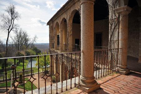 charles county: Garden of the Monastery of Yuste, retirement of Emperor Charles V, Cuacos de Yuste, Extremadura, Spain Editorial