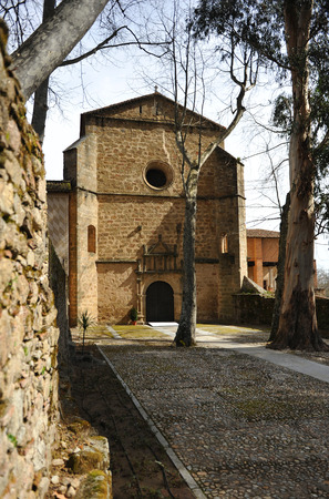 charles county: The church of the monastery of Yuste, Retirement of Emperor Charles V, Cuacos de Yuste, Extremadura, Spain Stock Photo