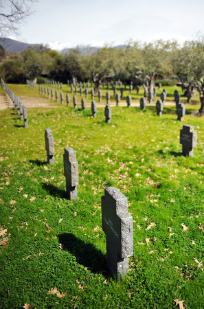 military cemetery: The german military cemetery of Yuste, Cuacos de Yuste, province of Caceres, Spain