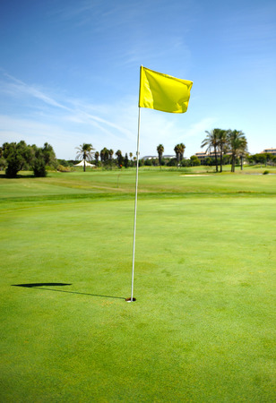 blow hole: Green in the golf course of Costa Ballena, Rota, Cadiz province, Andalusia, Spain