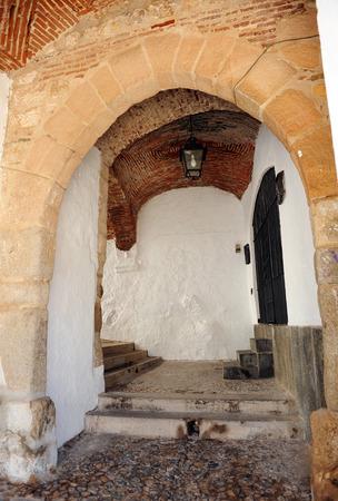 badajoz: Door of the Villa and Chapel of Saint Anthony, Jerez de los Caballeros, province of Badajoz, Extremadura, Spain