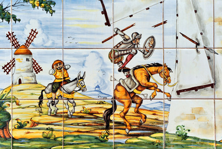 don quijote: Don Quijote y los molinos de viento Editorial