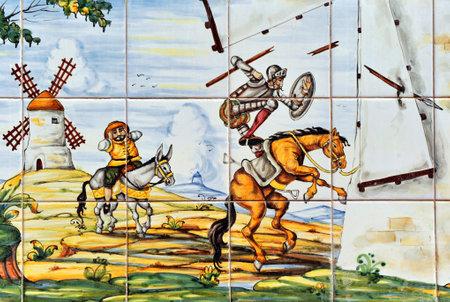 don quixote: Don Quixote and the windmills