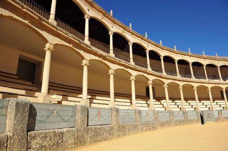 bull rings: Maestranza, Bullring in Ronda, Costa del Sol, Malaga Province, Spain Editorial