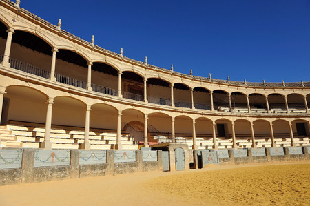 Bullring of Maestranza in Ronda, Malaga Province, Spain Editorial