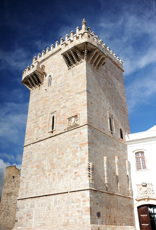 homage: Homage Tower or Tower of the three crowns, Castle of Estremoz, Alentejo, Portugal