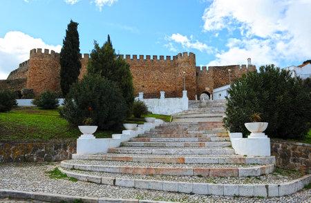 alentejo: Medieval Castle of Estremoz, Alentejo, Portugal Editorial