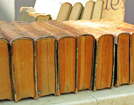 Flea market of old books, encyclopedia