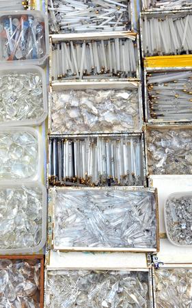 resale: Tears of glass for chandeliers, flea market