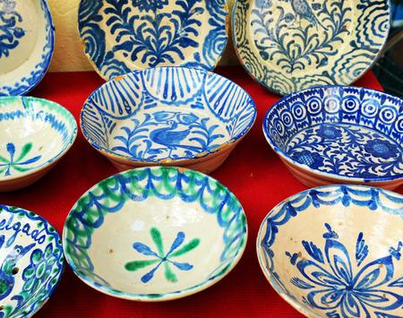 resale: Antique faience dishes, flea market