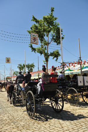 feast: Horse carriage at Seville Fair, Feast in Andalusia