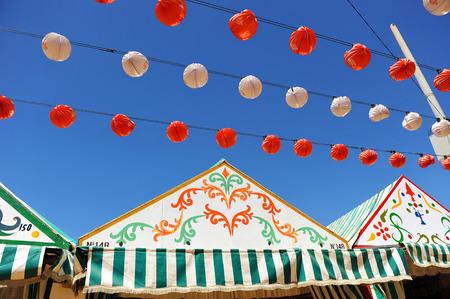 Casetas, Fair in Seville, Andalusia, Spain Stock Photo