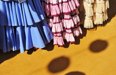 colleen: Gypsy costumes for the fair, Andalusia, Spain Stock Photo