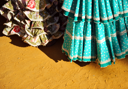 colleen: Traditional costumes for the fair of Seville, Andalusia, Spain Stock Photo