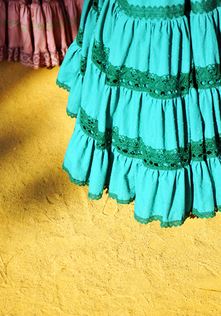 colleen: Traditional costumes of women for the fair of Seville, Andalusia, Spain
