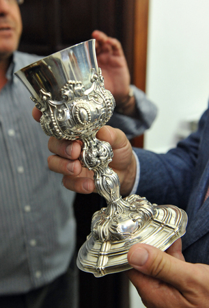 liturgical: Silversmith, baroque silver chalice