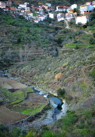 agricultural implements: Huetre village, Hurdano River Valley, Las Hurdes, Caceres Province, Extremadura, Spain