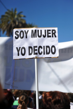 feminist: I decide, I am a woman, feminist demonstration for the rights of women Stock Photo