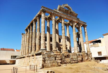 templo romano: Templo romano de Diana cazadora, Mérida, Provincia de Badajoz, Extremadura, España