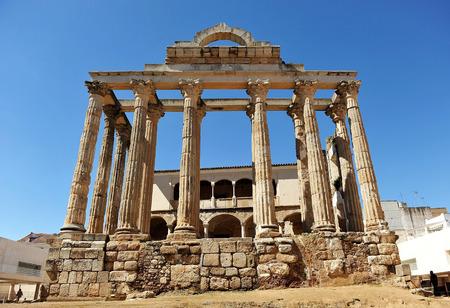 extremadura: Roman Temple of Diana huntress, Merida, Badajoz Province, Extremadura, Spain