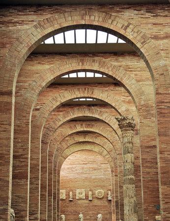 augusta: Museum of Roman Art, Emerita Augusta, Merida, Badajoz Province, Extremadura, Spain Editorial