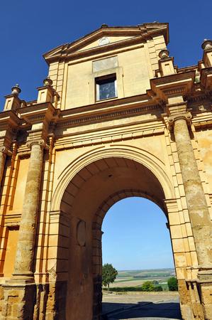 carmona: Cordoba Gateway, walls of Carmona, Seville province, Andalusia, Spain