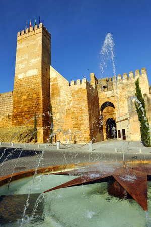 monumental: Alcazar de la Puerta de Sevilla, Alcazar of the Door of Seville, monumental city of Carmona, Seville province, Andalusia, Spain Editorial